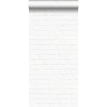 tapet murstensvæg hvidt fra ESTA home