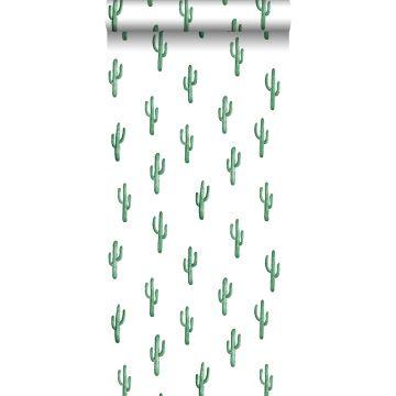 tapet lille ørkenkaktus smaragdgrønt fra ESTA home