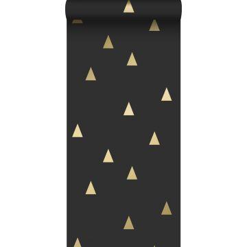 tapet grafiske trekanter sort og guld fra ESTA home