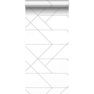 tapet grafiske linjer sort og hvidt fra ESTA home