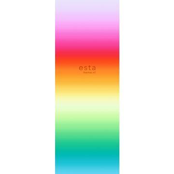 fototapet regnbue lyserødt, rødt og orange fra ESTA home