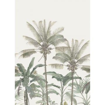 fototapet palmetræer lysebeige og gråligtgrønt fra ESTA home