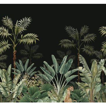 fototapet jungle sort og gråligtgrønt fra ESTA home