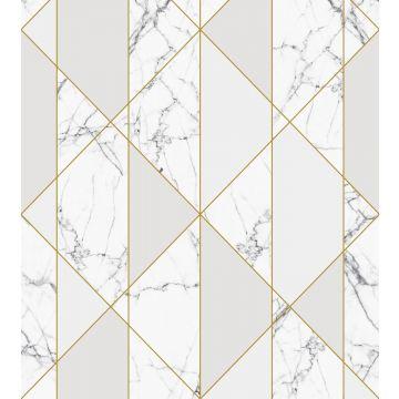 fototapet marmor sort og hvidt, gråt og guld fra ESTA home