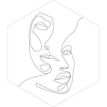 wallsticker ansigter sort og hvidt fra ESTA home