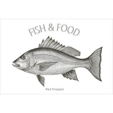 wallsticker fisk sort fra ESTA home