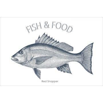 wallsticker fisk blåt fra ESTA home