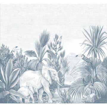 fototapet jungle blåt fra ESTA home
