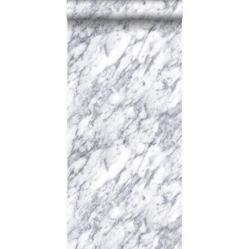 tapet marmor mørkt elfenbenshvidt fra Origin
