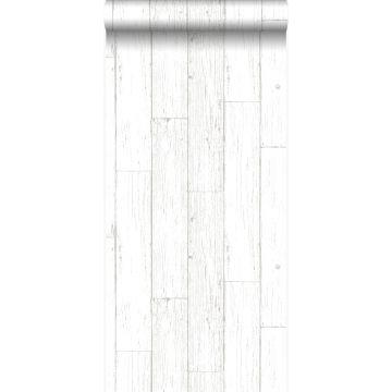 tapet slidte vintage planker af træstumper elfenbenshvidt fra Origin