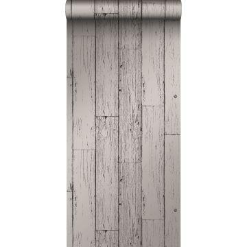 tapet slidte vintage planker af træstumper mørkegråt fra Origin