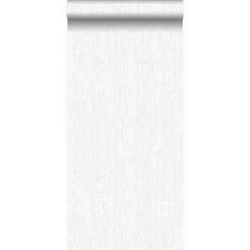 tapet slidte vintage planker af træstumper cremehvid fra Origin