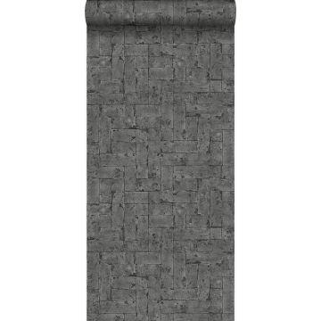 tapet murstensvæg sort fra Origin