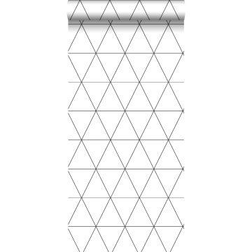 tapet grafiske trekanter sort og hvidt fra Origin