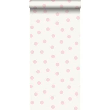 tapet prikker skinnende rosa og hvidt fra Origin
