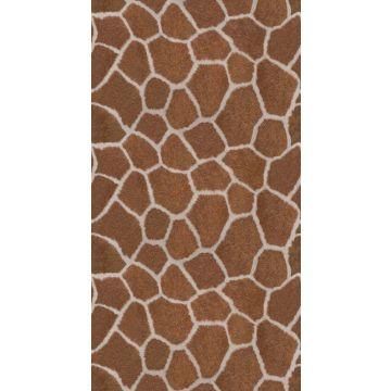 fototapet giraf mønster brunt fra Origin